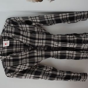 Two Hearts Maternity Flannel Top